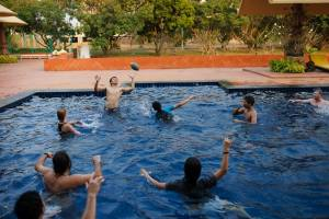 Playing Polo in pool