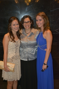 Hee hee, Jessa and I have grown up and up, taller than Mum!